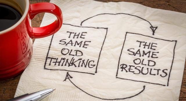 Same Old Thinking illustration